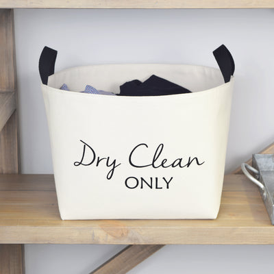 Dry Clean Only Canvas Laundry Basket