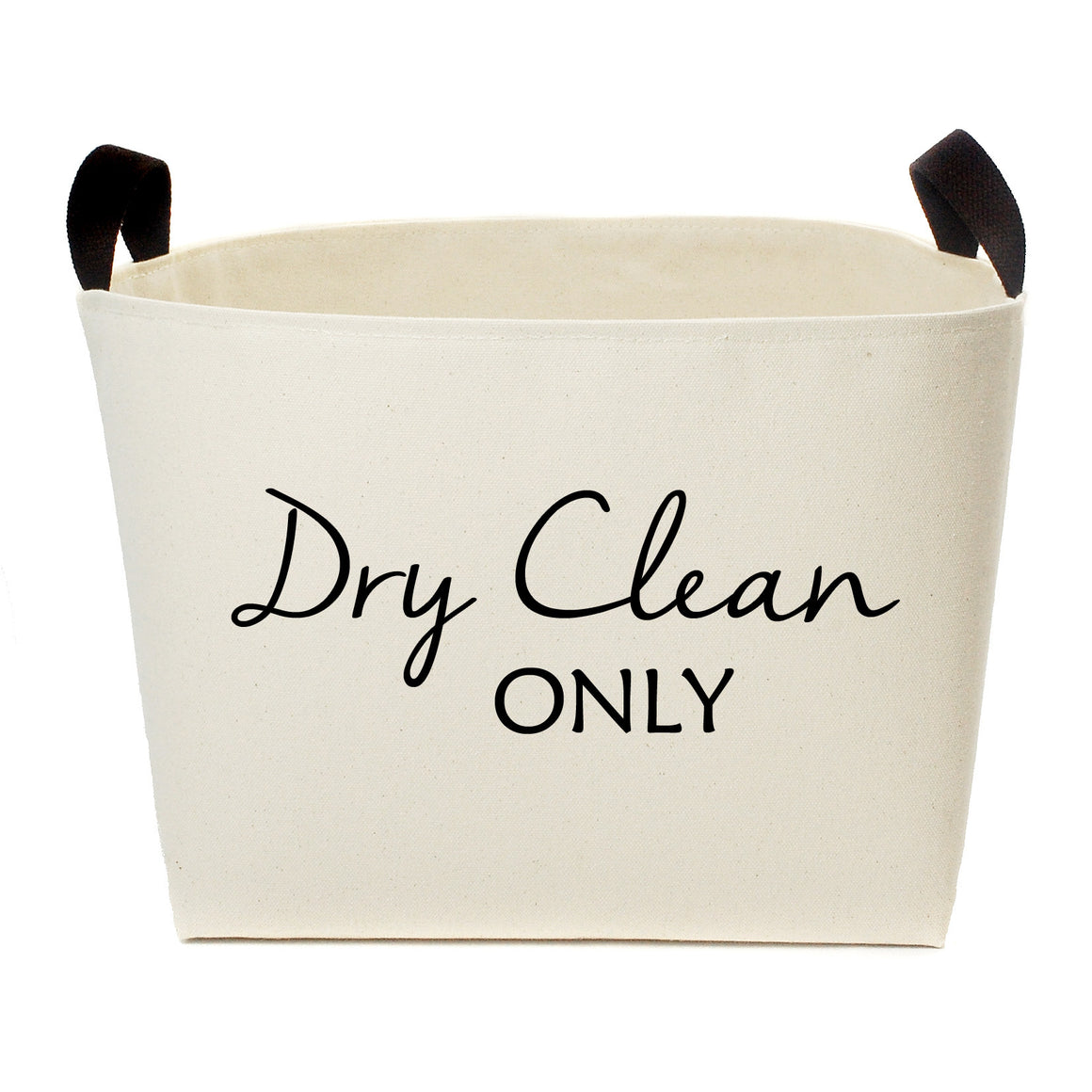 Dry Clean Only Luxury Canvas Laundry Basket - A Southern Bucket