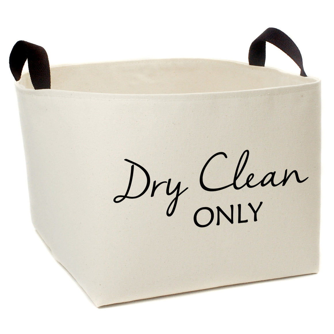 Dry Clean Only Canvas Storage Bin - A Southern Bucket - 1