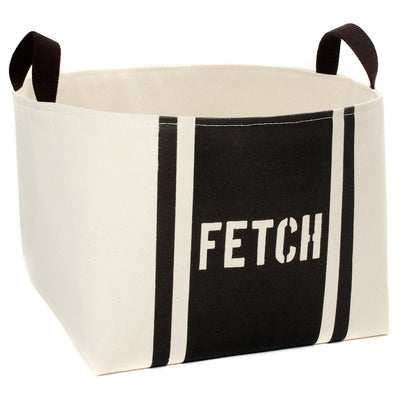 Fetch Striped Dog Storage Basket