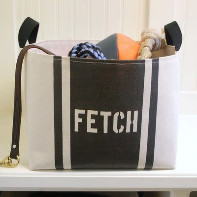Fetch Striped Dog Storage Bin - A Southern Bucket - 6