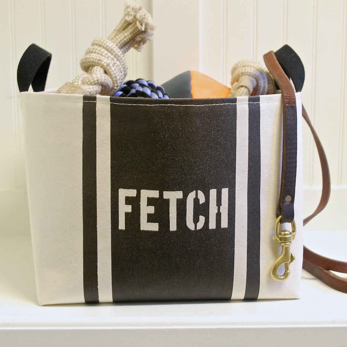 Fetch Striped Dog Storage Bin - A Southern Bucket - 1