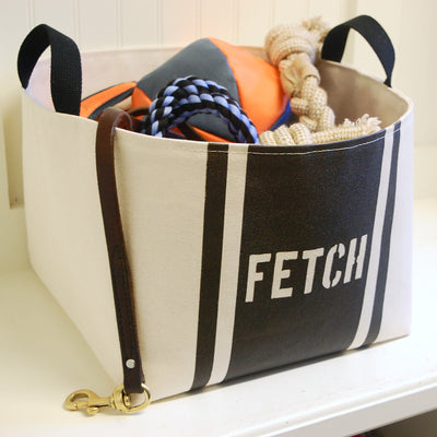 Fetch Striped Dog Storage Bin - A Southern Bucket - 5