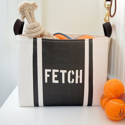 Fetch Striped Dog Storage Bin - A Southern Bucket - 3