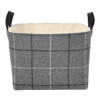 Gray Flannel Storage Basket - A Southern Bucket - 3