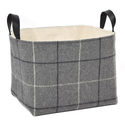 Gray Flannel Storage Basket - A Southern Bucket - 1