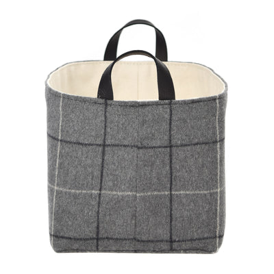 Gray Flannel Storage Basket
