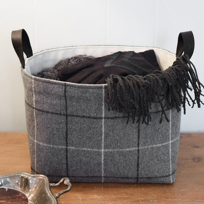 Gray Flannel Storage Basket - A Southern Bucket - 2
