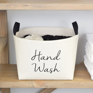 Hand Wash Luxury Canvas Laundry Basket - A Southern Bucket