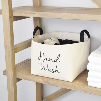 Hand Wash Canvas Laundry Basket
