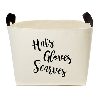 Hats Gloves Scarves Storage Basket - A Southern Bucket - 1