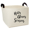 Hats Gloves Scarves Storage Basket - A Southern Bucket - 2