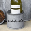 Custom Galvanized Metal and Reclaimed Wood Wine Coaster