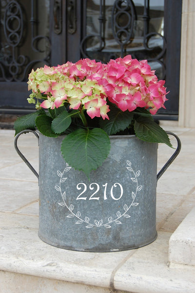French Vintage Zinc Bucket