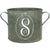 Vintage Zinc Bucket Laurel Wreath