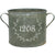Custom Address Number Vintage Zinc Bucket