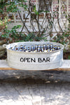 Open Bar French Vintage Zinc Wine  bucket
