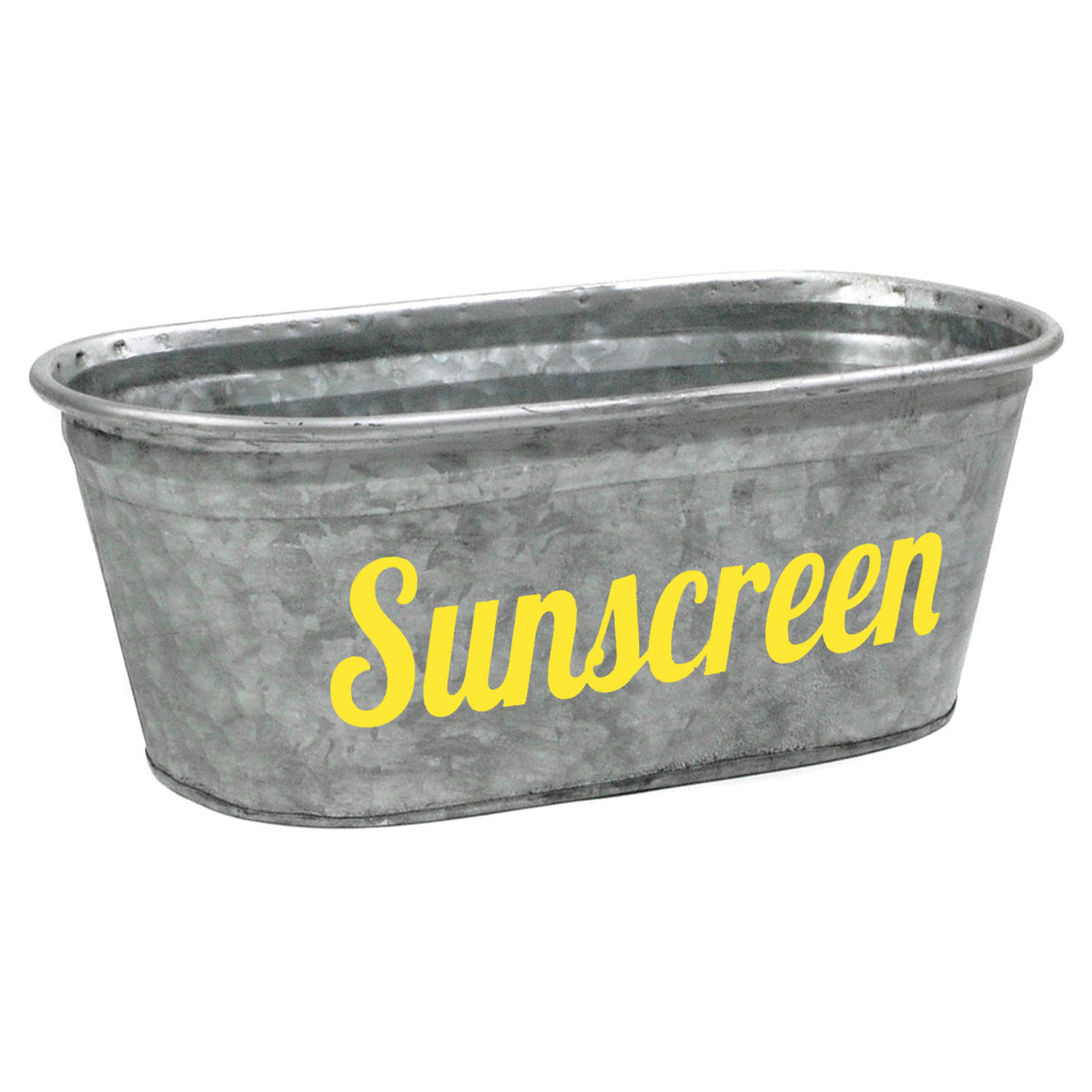 Sunscreen Galvanized Tub