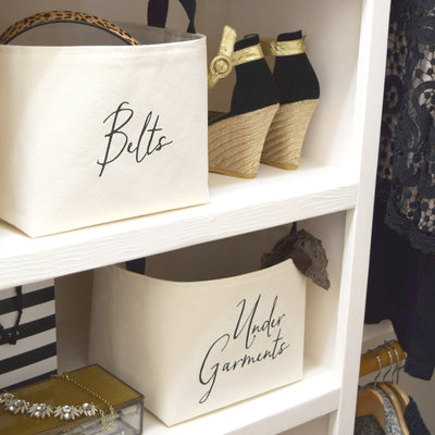 Closet Organizer Custom Canvas Storage Basket
