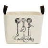 Cookbooks Canvas Storage Bucket