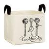 Cookbooks Canvass Storage Basket