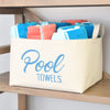 Pool Towels Canvas Storage Basket - A Southern Bucket