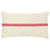 Red Stripe Vintage Grain Sack Pillow - A Southern Bucket