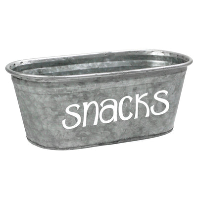 Snacks Galvanized Tub - A Southern Bucket - 2