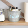 Soak Laundry Supplies Metal Organizer Bucket - A Southern Bucket