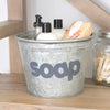 Soap Metal Storage Bucket with Hand Painted Design - A Southern Bucket