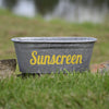 Sunscreen Galvanized Tub - A Southern Bucket - 3