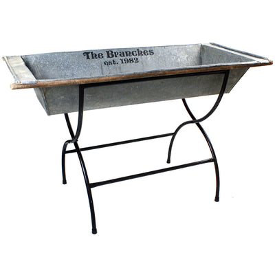 Personalized Vintage Beverage Trough with Stand - A Southern Bucket - 8