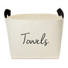 Towels Canvas Storage Bin