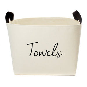 Towels Luxury Canvas Storage Basket - A Southern Bucket
