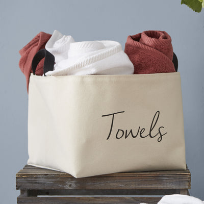 Towels Canvas Storage Bin - A Southern Bucket - 1