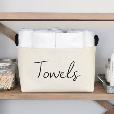 Towels Rectangle Canvas Storage Bin - A Southern Bucket