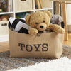 Toys Rectangle Burlap Bin - A Southern Bucket