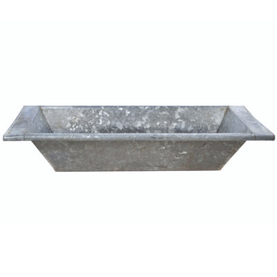 Vintage Zinc Galvanized Metal Beverage Trough from Hungary - A Southern Bucket