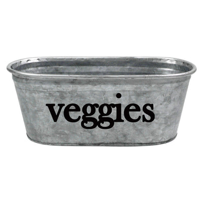 Veggies Decorative Metal Storage Bin - A Southern Bucket