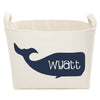 Personalized Blue Whale Canvas Storage Basket - A Southern Bucket