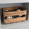 "Personalized Vintage Wine Crate ""Wein"" Distressed limited"