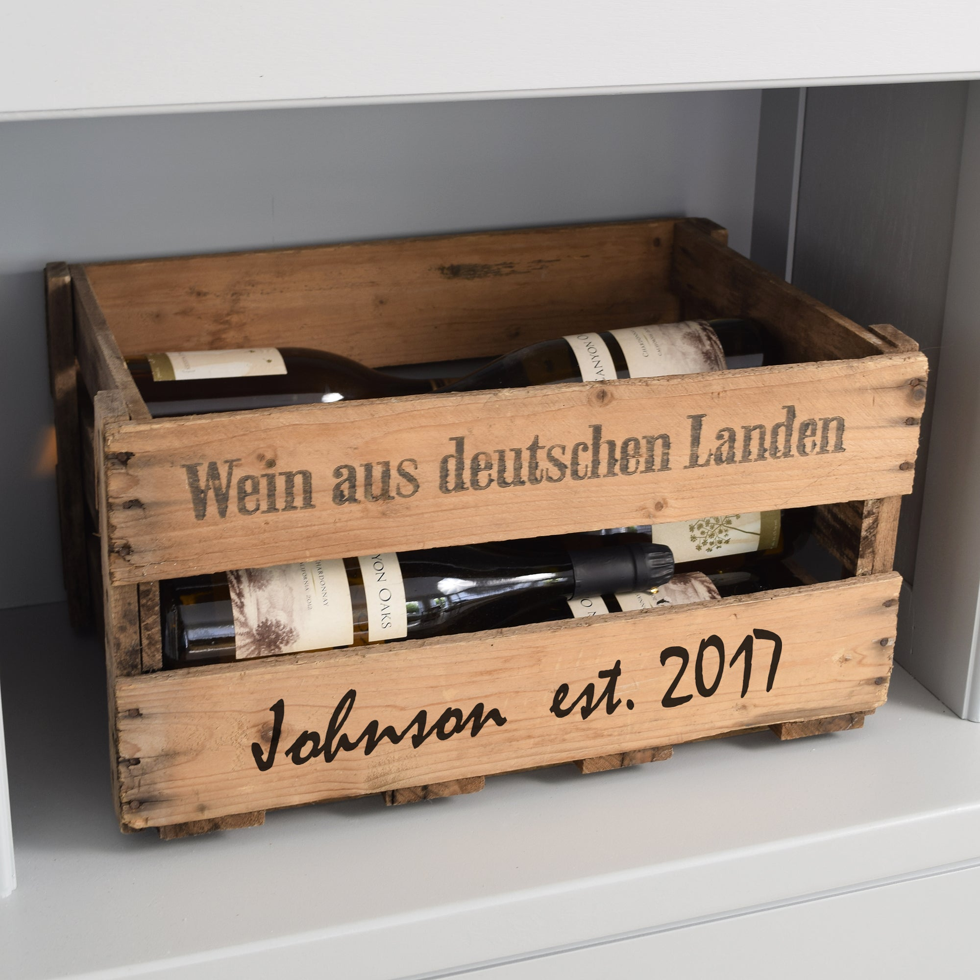 Personalized Vintage Wooden Wine Crate ...