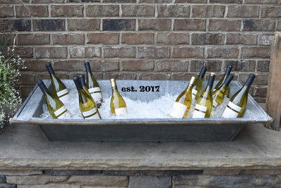Personalized Vintage Beverage Trough with Stand - A Southern Bucket - 5