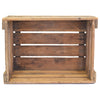 Personalized Vintage Wine Crate upper view