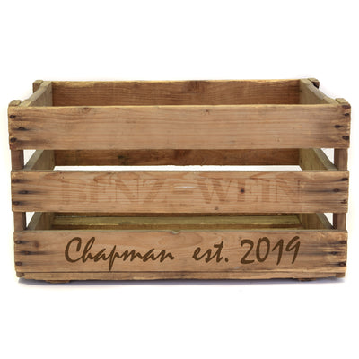 Personalized Vintage Wine Crate