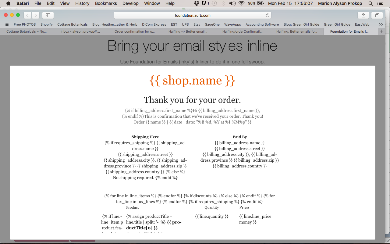 Halfling -> Better email nofitications for Shopify - Shopify ...