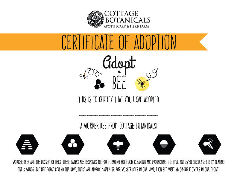 Adopt A Bee Worker Bee Cottage Bees