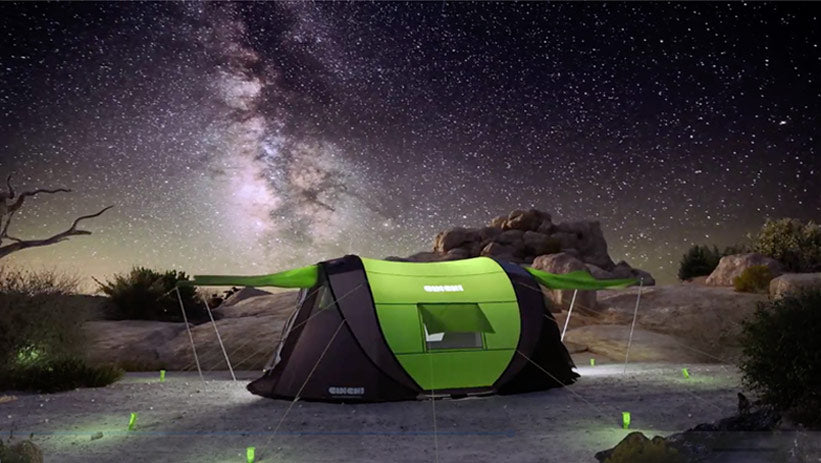 ULTIMATE POP-UP TENT ? solar power ? heat control ? LED lighting ? much more! : solar tent wifi heating floor - memphite.com