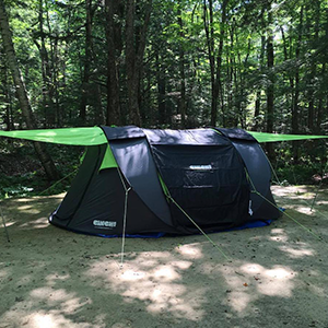 u201cJust returned from 9 days at Clifftop Appalachian String Festival in my Cinch! Loved jamming in the extended canopy during downpours!! u201d & Cinch Pop up Tents