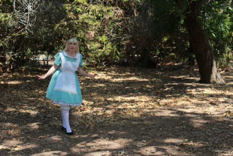 Alice in Wonderland character tea event